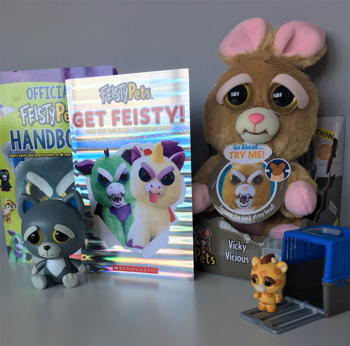 These pets look cute and cuddly... until you get your paws on them! RT for the chance to win a Feisty Pets bundle - winner receives a large Feisty Pet, our Official Feisty Pets Handbook and Get Feisty! 5 runners up receive a Feisty Pets minifigure, Mini Misfit and the books!