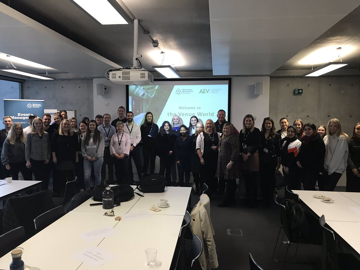 Event Operations Manager Kylie Dey joined @AEVnews to speak with Event Management students at @ManchesterMet to share her knowledge and insight of the field. A fantastic day all round!