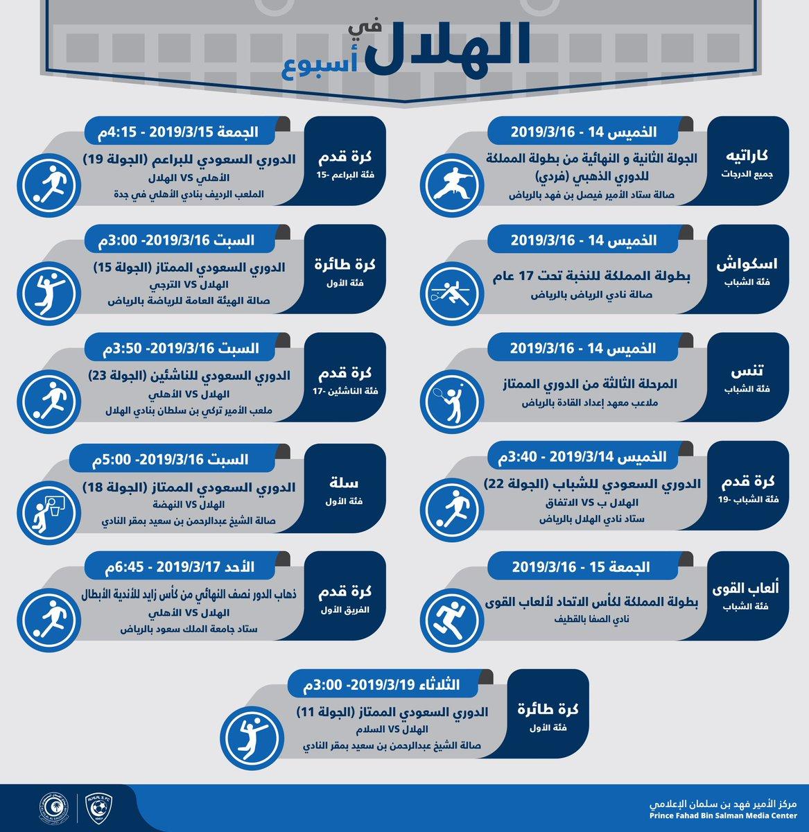 نادي الهلال السعودي On Twitter الهلال في أسبوع