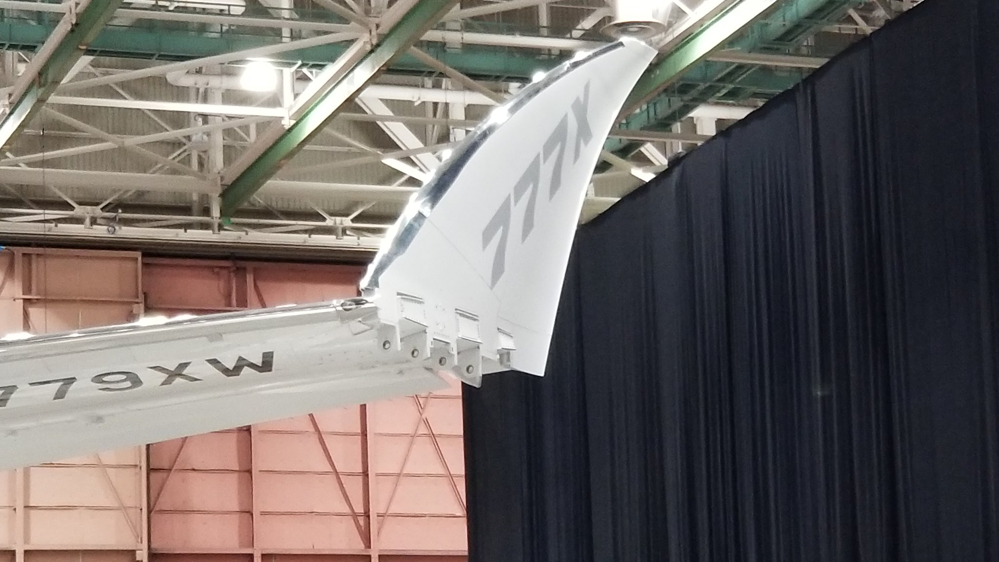 The Boeing 777X Foldable Wing n779xw