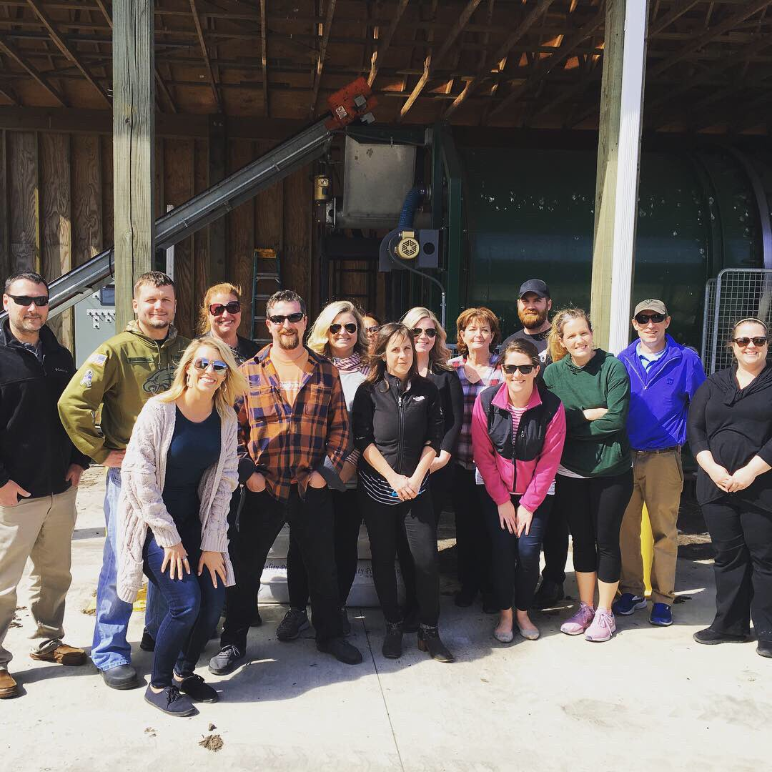 Campus Dining Management Team took a field trip to the New Hanover County Landfill♻️