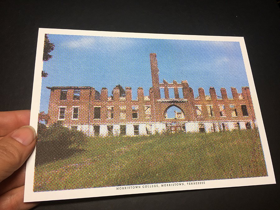 "Postcards by Chantal Zakari feature stories about defunded colleges & their impact on faculty & students. ""Cogent Message"" is title for both show & artist book of idyllic images retrieved from school marketing campaigns emerging from corporate letterheads. http://kingstongallery.com/exhibitions/2019/march-chantal-zakari-cogent-message.php …"