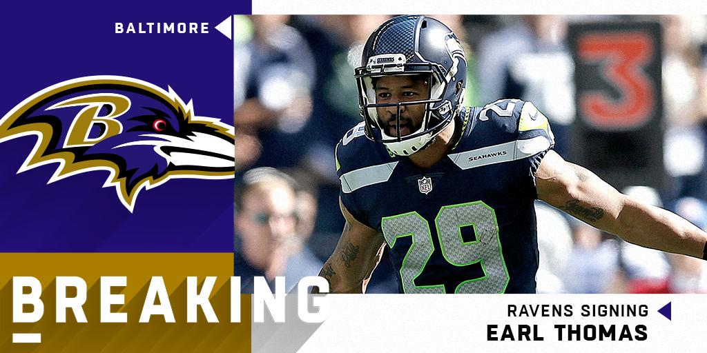 BREAKING: @Ravens signing S @Earl_Thomas to a four-year, $55 million deal. (via @RapSheet) https://t.co/tSv6dVAI8r