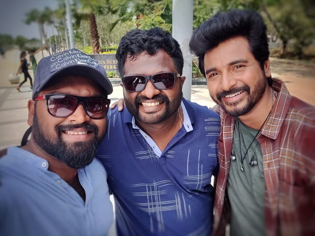 My next film #HERO Shoot started today...Happy to join wit tis talented duo @george_dop and Dir @Psmithran We did a short film yrs ago and now back for a feature film👍😊
