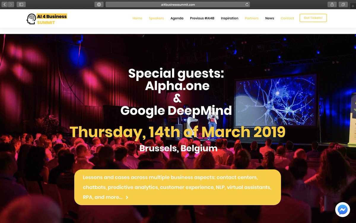 Catch my colleague Roeland Dietvorst presentation tomorrow at the AI 4 Business Summit tomorrow in Brussels. #business #deeplearning #neuroscience #neuralnetworks https://t.co/rrQBYLQkqg https://t.co/NmAZ2NYkTa