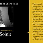 Image for the Tweet beginning: Rebecca Solnit (United States) is