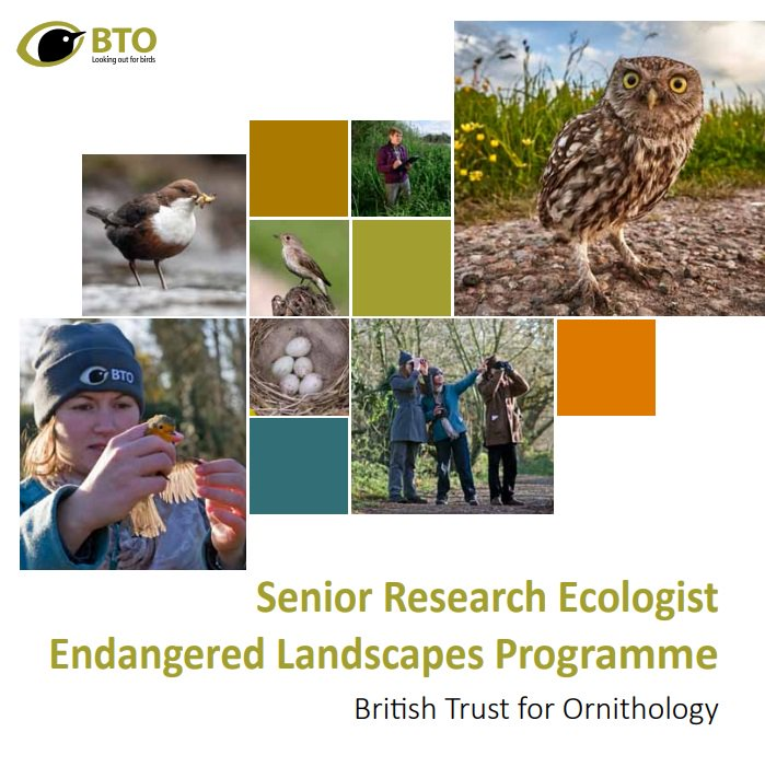 We're looking for a highly motivated researcher to join an exciting new project on landscape restoration in Belarus and the Ukraine. Have you got what it takes? Apply now at http://www.bto.org/jobs! Applications close April 3rd.