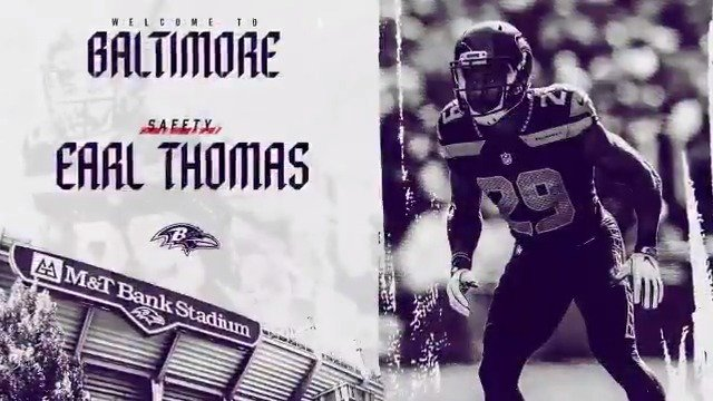 We have agreed to terms with S Earl Thomas.  Welcome to Baltimore, @Earl_Thomas ❗️❗️ ��: https://t.co/voO0sgXkfL https://t.co/SmfdjnaX4t
