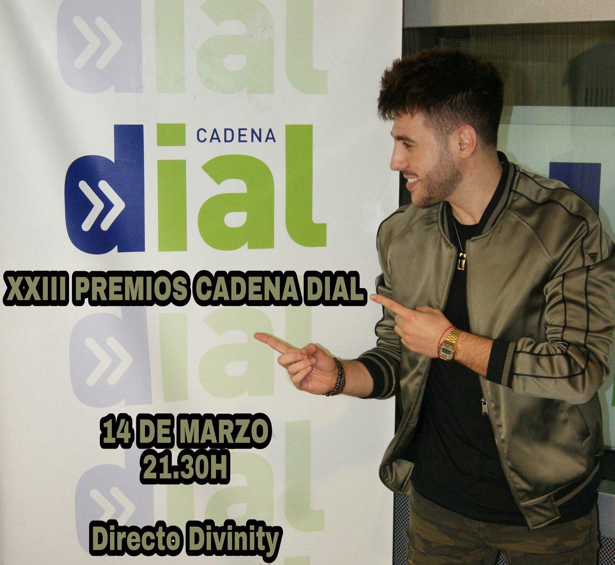 Mañana dia 14 @AntonioJSMazuec estará en los XXIII Premios @Cadena_Dial !!  Será retransmitido en @divinity_es! 21.30h península 20.30 Canarias #antoniojose #divinity #cadenadial