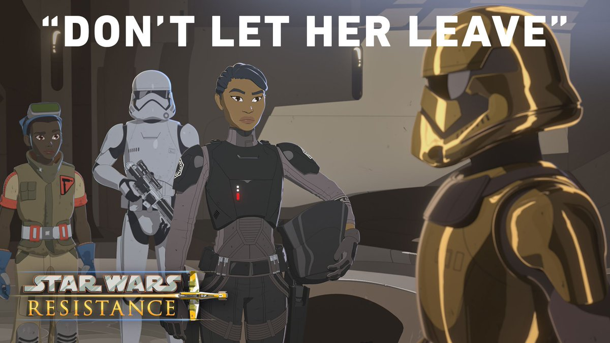 "Kaz and Torra free Yeager and Doza, but Tam is going to be escorted off world by the First Order. Kaz comes up with a crazy plan, using Neeku's help to upset the platform in ""No Escape: Part 2."" #StarWarsResistance is new this Sunday at 10pm ET/PT on @DisneyChannel."