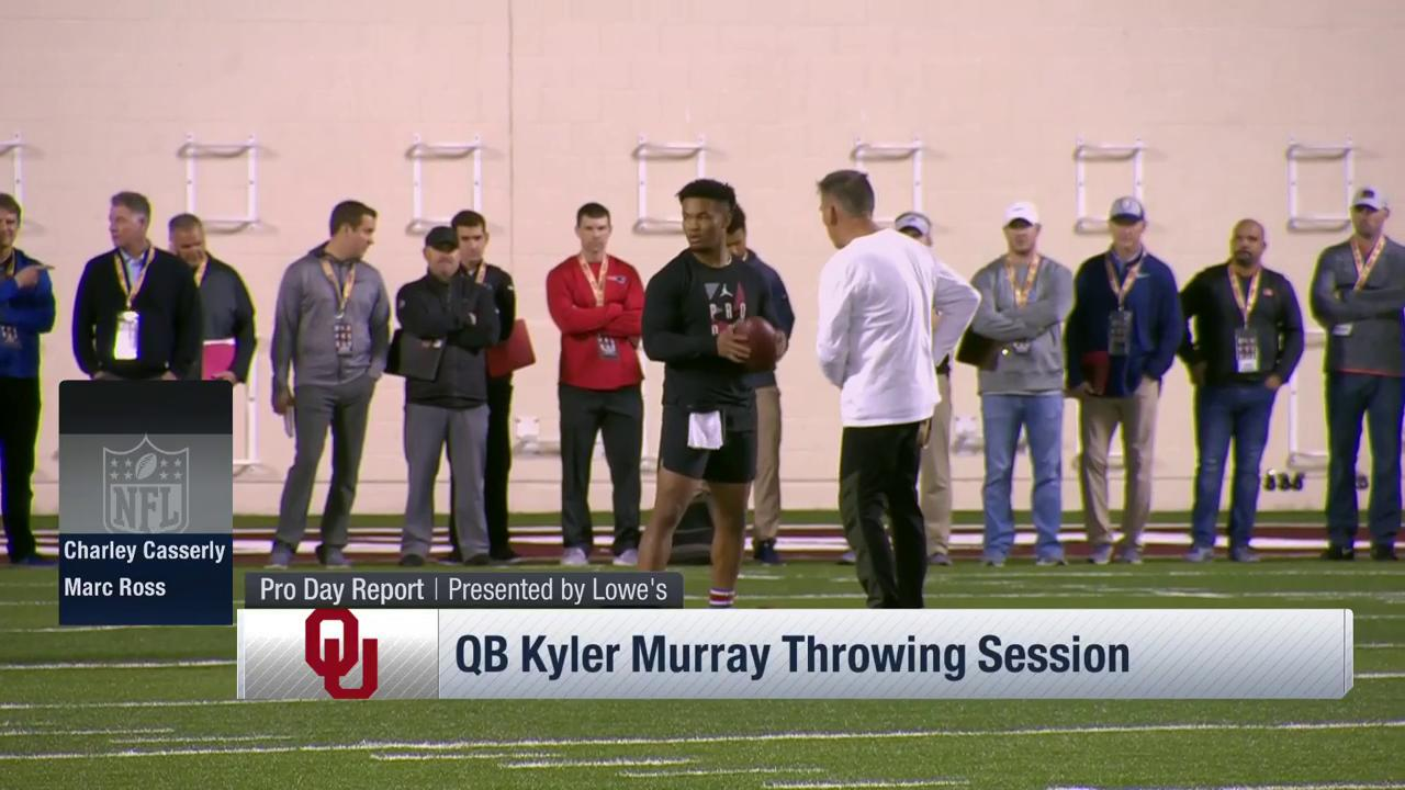 .@thekylermurray cutting it loose at @OU_Football Pro Day!  ��: Path to the Draft: Pro Day on @NFLNetwork https://t.co/NQe6Nr99gi