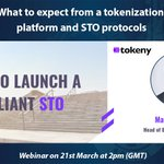 Image for the Tweet beginning: UPCOMING WEBINAR: #Tokeny to host