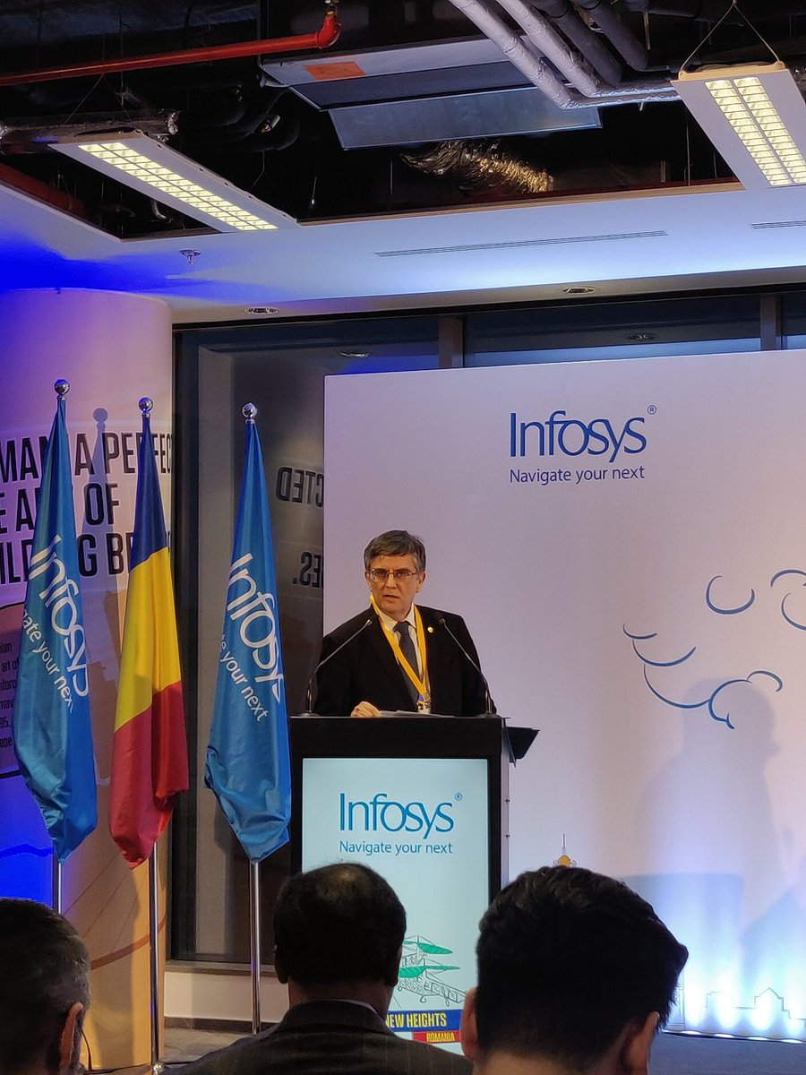 """#Europe is a hotbed for #innovation, and the next generation of workforce is keen to develop its skills and knowledge in the #digital age, through the best training and hands-on experience."" - Mircea Dumitru, Rector of The University of #Bucharest https://infy.com/2F2Jytz"