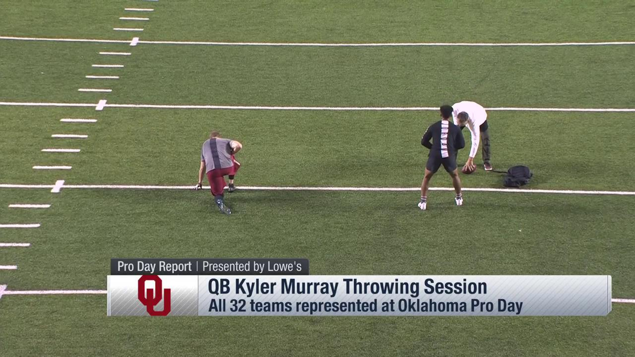 This throw from @TheKylerMurray... ��  ��: Path to the Draft: Pro Day on @nflnetwork https://t.co/mSIAwspwkl