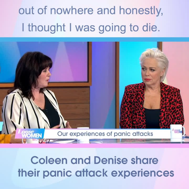 ICYMI: Our @NolanColeen and @RealDeniseWelch share their experiences of panic attacks.  We have helplines available here > https://www.itv.com/loosewomen/anxiety-and-panic-helplines…