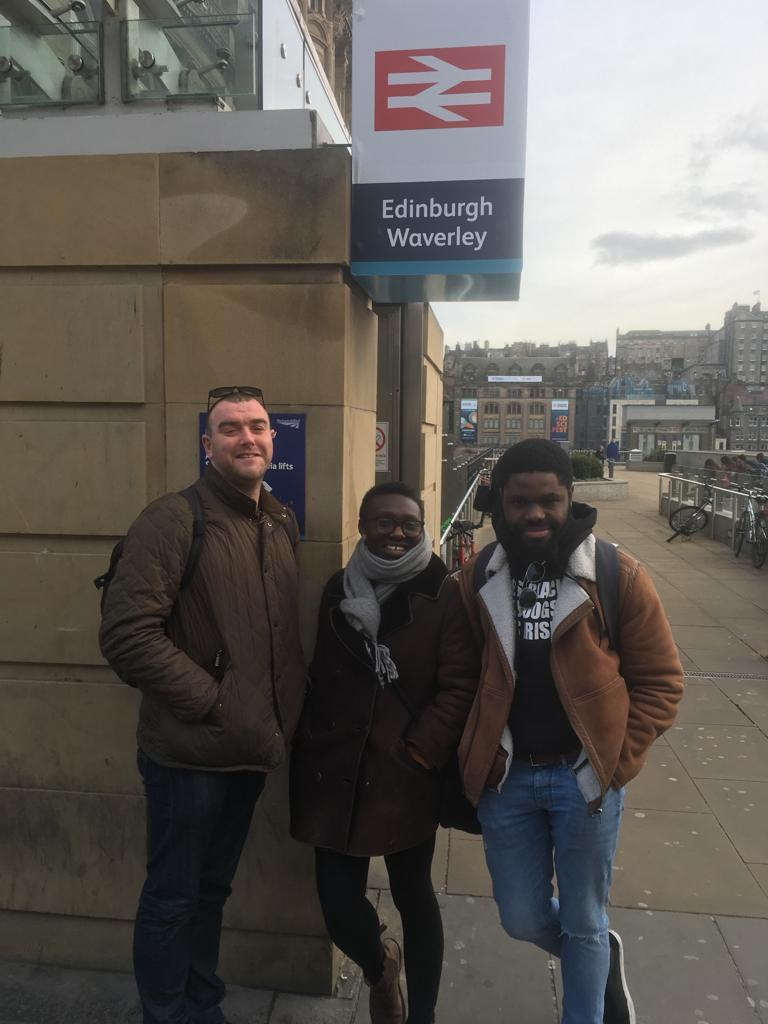 ✈️ @SJSwords @FeliSpeaks & @dondagz hav touched down in #EDINBURGH ahead of their @NeuReekie #StPatricksFest gig tonight. #celticconnections They'll be performing in @ByLeavesWeLive the Scottish Poetry Library. Feat 🏴󠁧󠁢󠁳󠁣󠁴󠁿poets: @LeylaJosephine1 @janetteayachi George Gunn