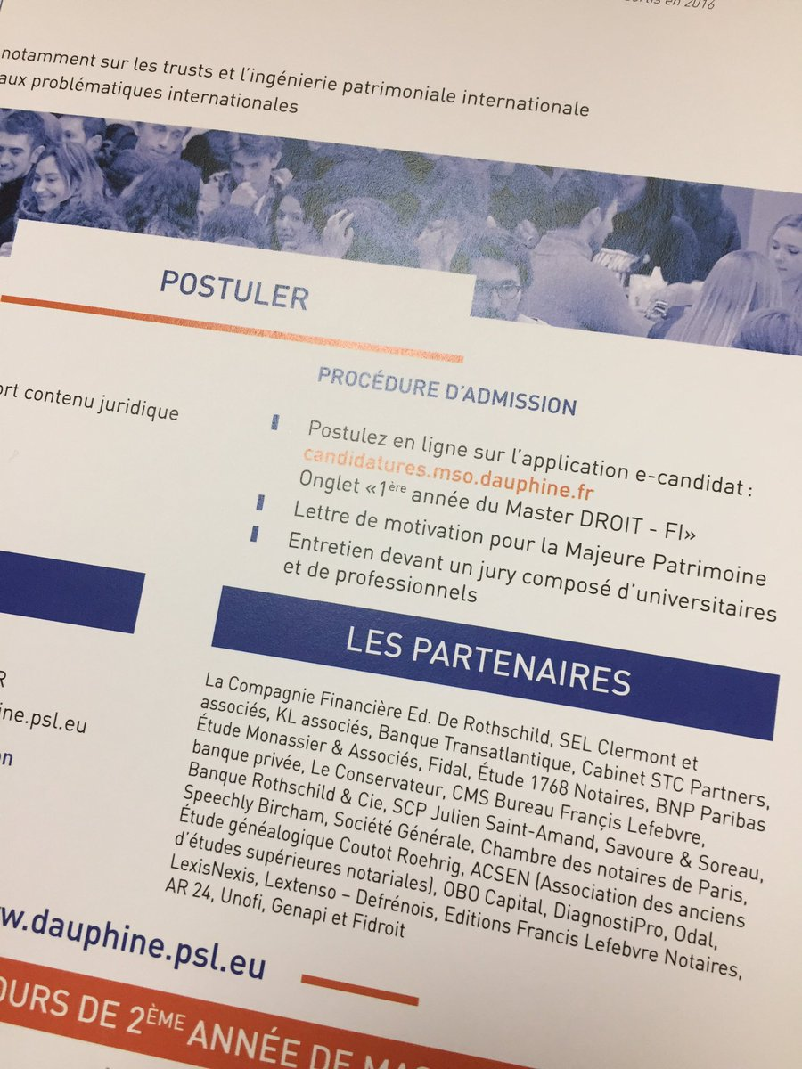 Double Master Droit Patrimoine Notarial Dauphine