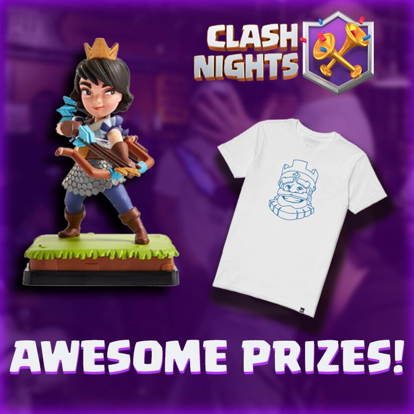 A Princess Figurine and a Clash Royale t-shirt are waiting for you! 👑👕  The Clash Nights video contest will be ending soon! Submit your video now for a chance to win awesome @ClashRoyale swag! 🤩🎥  Full details on our Discord channel: https://t.co/Sc3P3kLIgz https://t.co/No4PLVWA7Q