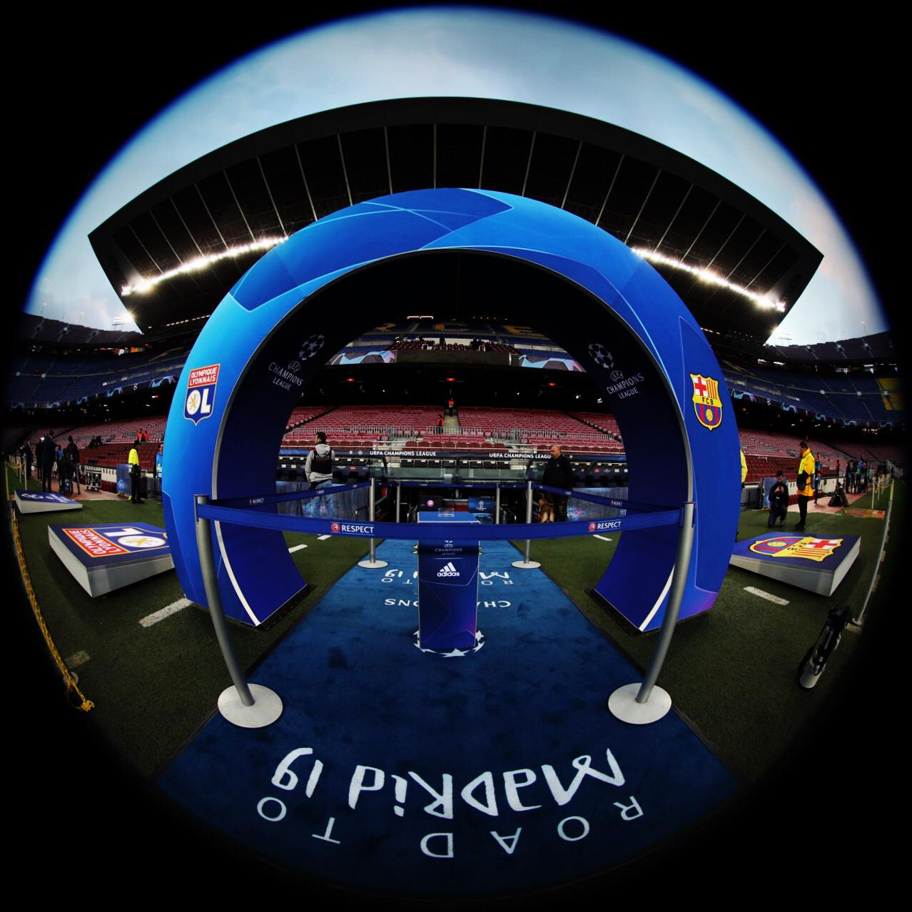 �� ¿Cómo van los nervios previos al partido? ¿Cuál es tu pronóstico? �� Camp Nou #BarçaOL ���� FORÇA BARÇA! https://t.co/i8kX6rZnpG