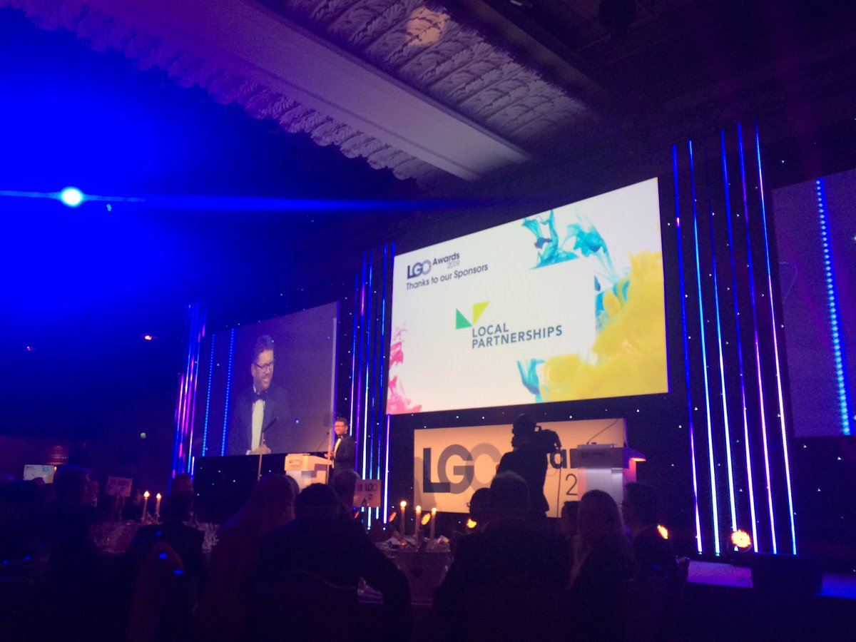 Kicking off the @LGCAwards here's @NickGolding and @LP_localgov is SO proud to sponsor the #Housing Initiative category! #localgov #LGCAwards