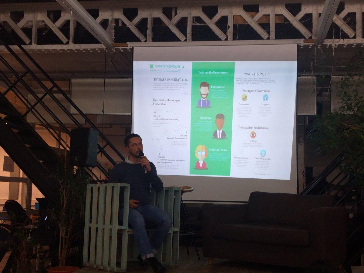Afterwork @hacktivateurs @makesense Trois profils d'innovateurs : entrepreneurs, intrapreneur et corporate hacker, Pierre Naves @conseilrecherch