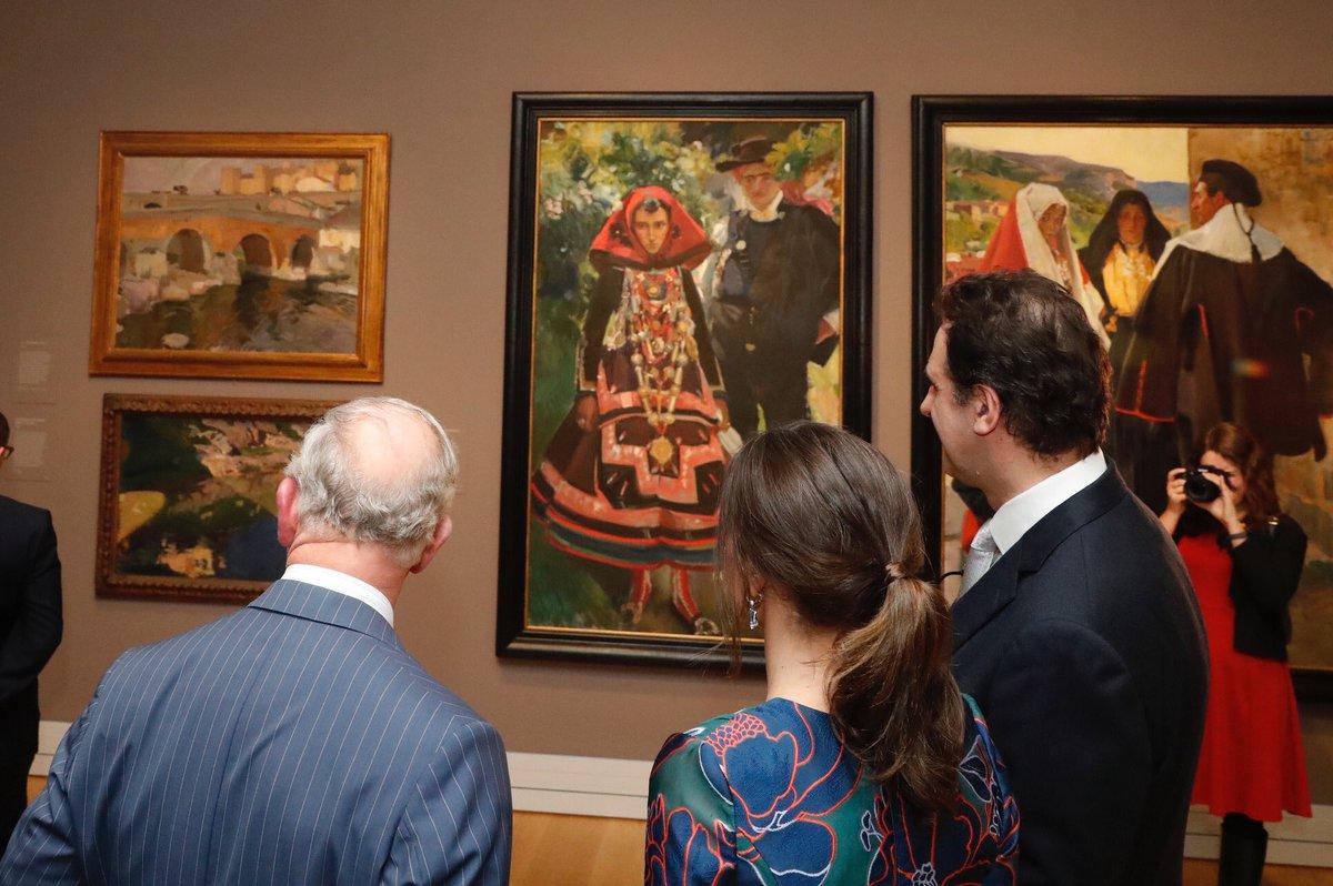 Королева Летиция и принц Уэльский открыли выставку в Национальной галерее