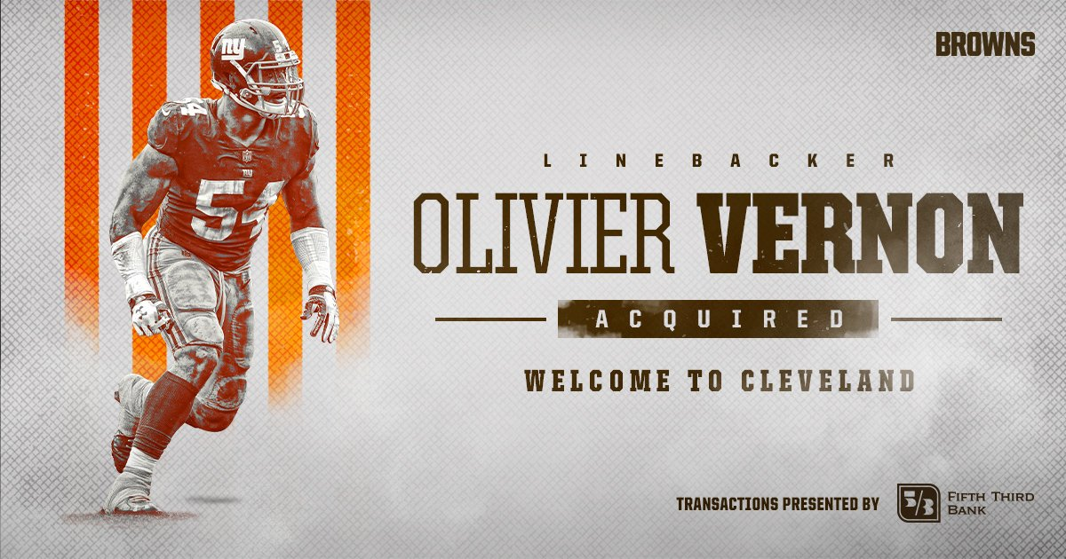 OFFICIAL.  Welcome to Cleveland, @oliviervernon54!  �� » https://t.co/Zax2uEYFMe https://t.co/XDdMY0ivDS