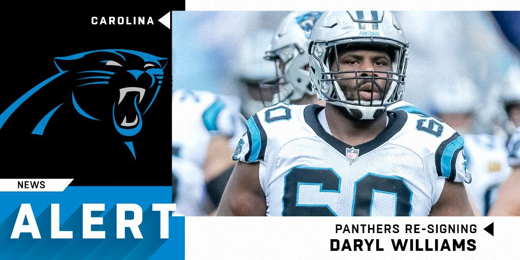 Pathers re-signing OT Daryl Williams to one-year, $7M deal. (via @RapSheet) https://t.co/sDbfEpJ589