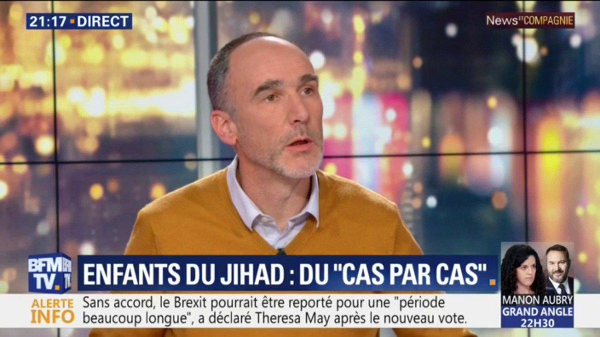 """#NewsAndCo  ➡ Retour des enfants des jihadistes français  """"Ils ne sont pas responsables des actes de leurs parents.""""  @PrudhommeLoic @BFMTV"""