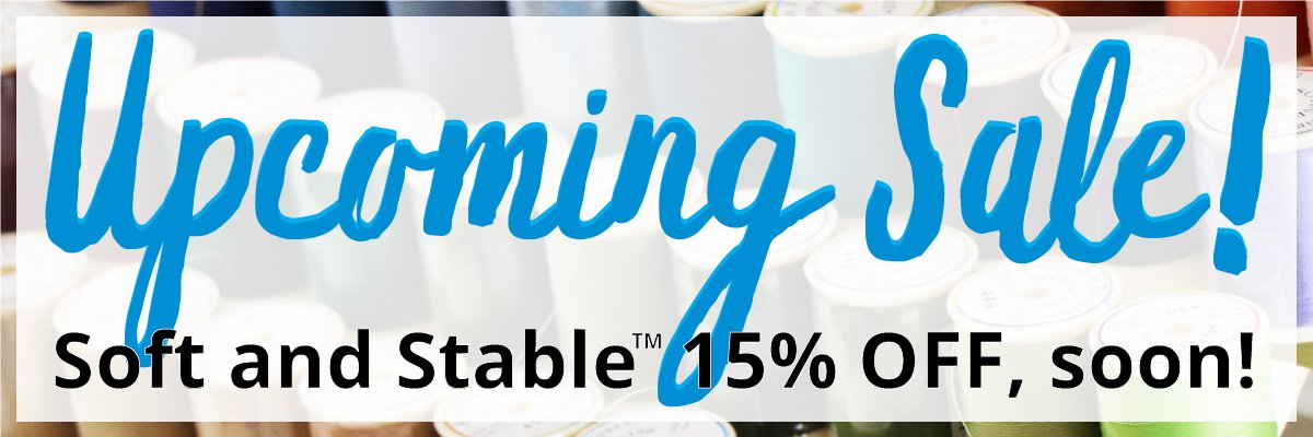 🍀15% OFF Soft & Stable starting March 15th!🍀 - https://mailchi.mp/5a7392d9155c/international-quilting-day-sale-2019…