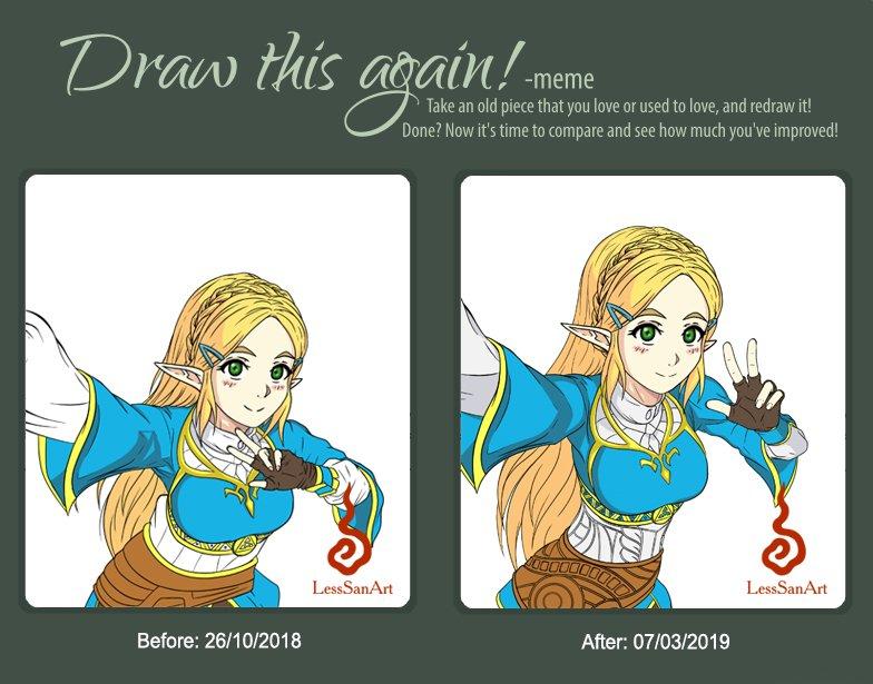 I am proud of how this fanart that I have in process has evolved...!!! :&#39;D #digitalart #fanart #WIP #digitaldrawing #TheLegendofZelda #Nintendo #BreathofTheWild #drawing #NintendoSwitch #selfie #DrawThisAgain #Zelda #PrincessZelda<br>http://pic.twitter.com/QnTPe8YbYe