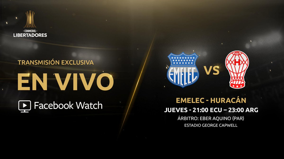 CONMEBOL Libertadores's photo on Emelec y Huracán