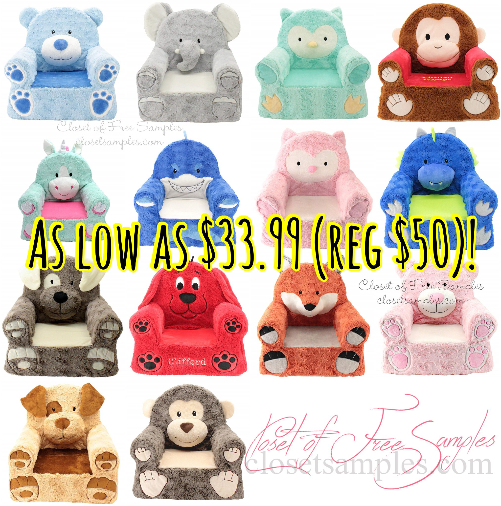 Cute Children's Animal Chairs.
