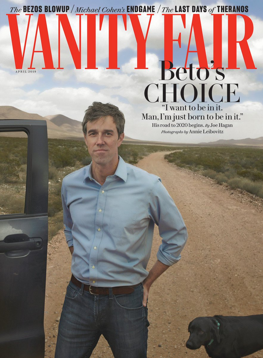 """""""Man, I'm just born to be in it."""" Beto O'Rourke seemed to come from nowhere to the brink of a presidential candidacy—but he's been on this journey for his whole life. O'Rourke spoke with Joe Hagan. Photographs by Annie Leibovitz. http://vntyfr.com/tCqXY2D"""