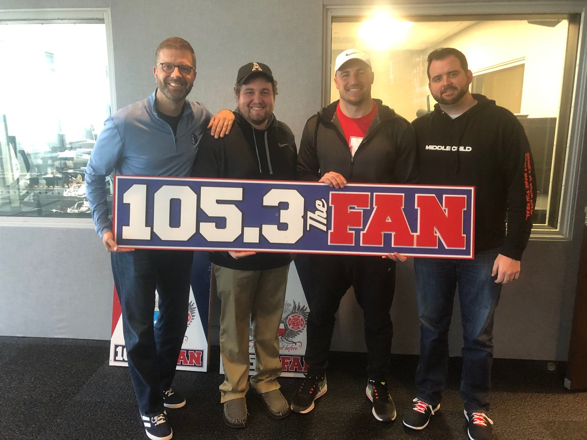 Thanks for coming in today, @RBrex34! You can get more information about his third annual @TeamJack Trifecta right here: http://teamjackfoundation.org