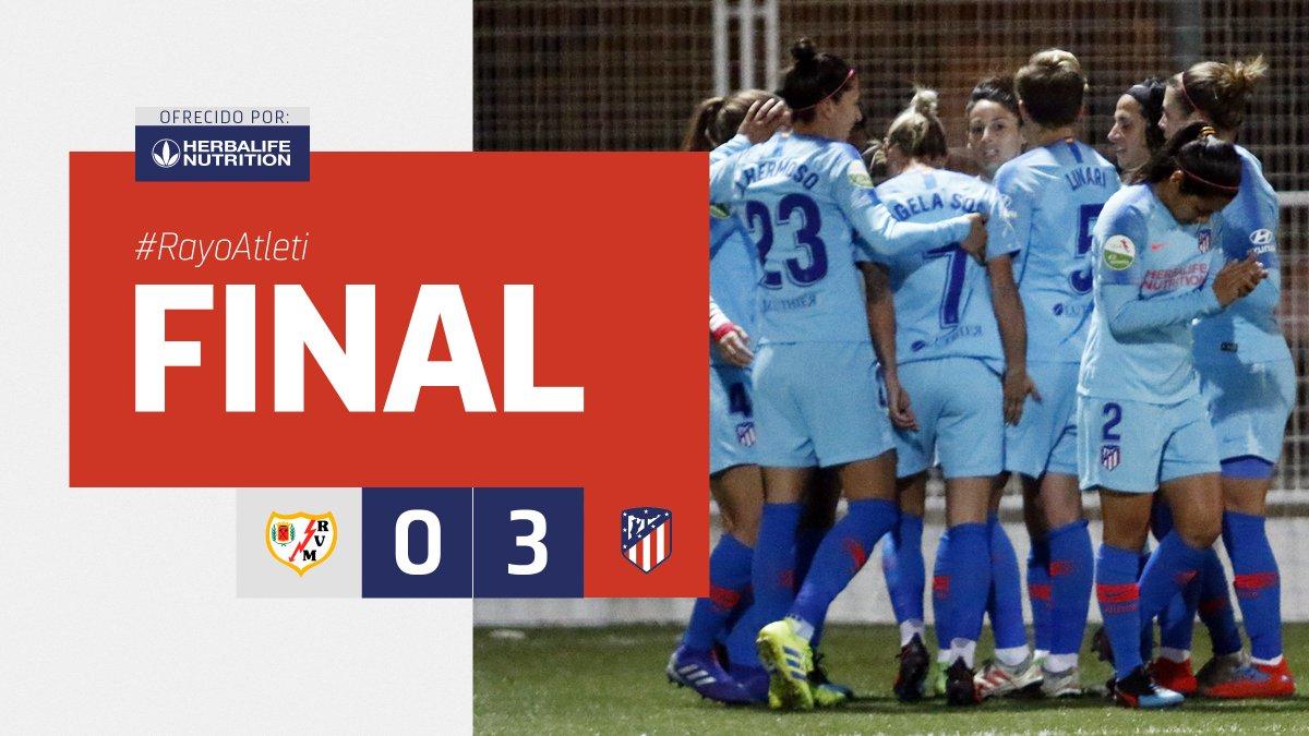 ⏱ 93' ⏹ ¡Finaaaaaal del partido en Vallecas!                        🔥#RayoAtleti🔥                        ⚡⚡🆚🔴⚪                            0⃣➖3⃣    ¡Gran trabajo del equipo para vencer en el derbi! 💪                           #AúpaAtleti