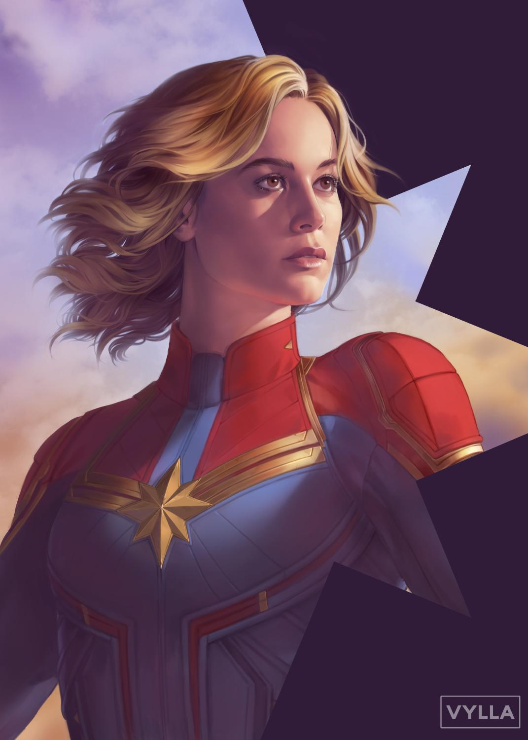 A quick Carol, absolutely couldn't not paint her. #CaptainMarvel https://t.co/hlTNEYoo9G
