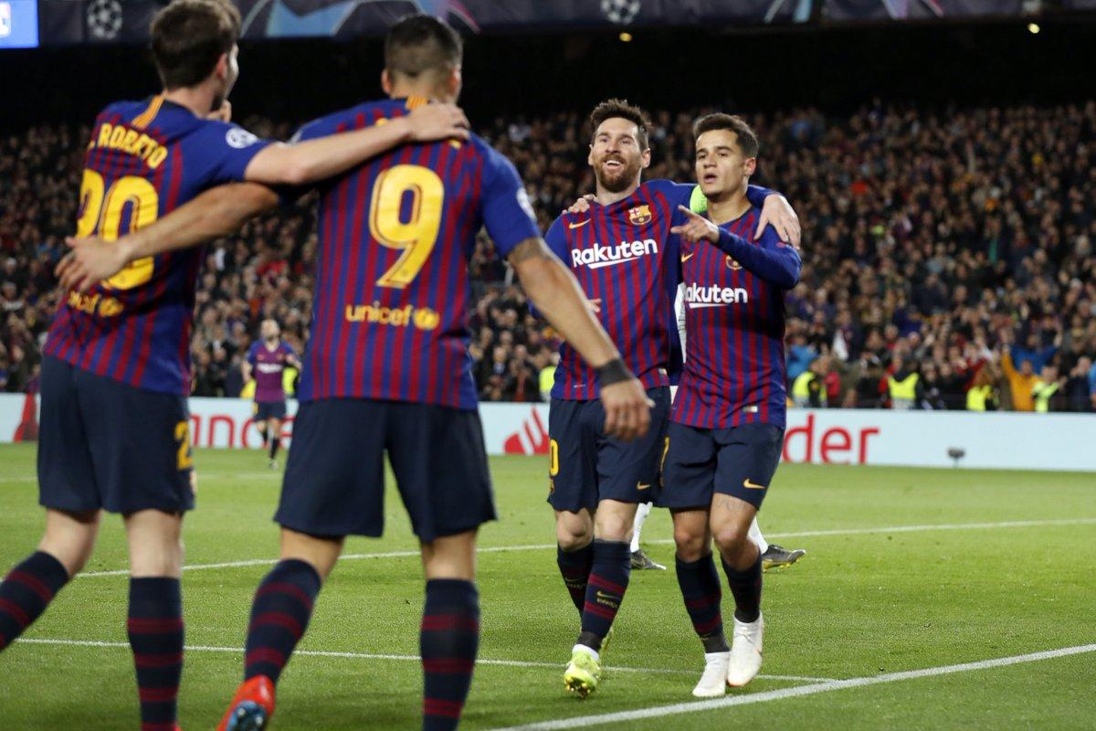 أهداف مباراة برشلونة وليون (5-1) في دوري أبطال أوروبا