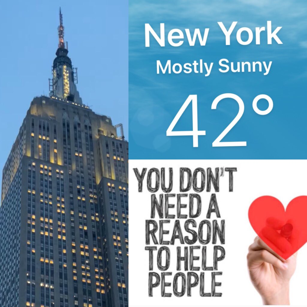 Weather Nyc - Wonderful weather in #NYC today & as