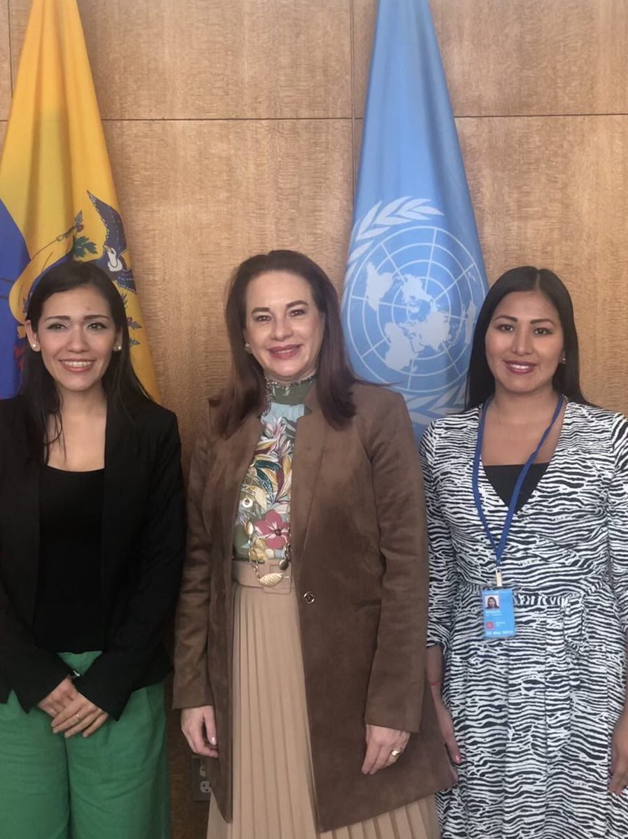 Delighted to meet Senator @Adriana1989sa President of the Bolivian Senate and youngest parliamentarian to occupy this position in the history of 🇧🇴. Female representation & political participation are key to promoting & protecting rights of women around the world! #WomenInPower