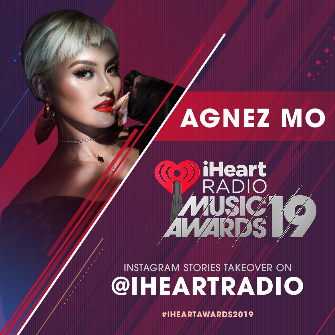 Our girl @agnezmo will be taking over our iHeartRadio Instagram Stories tomorrow for the #iHeartAwards2019! Tune in to see performances, red carpet moments and more!