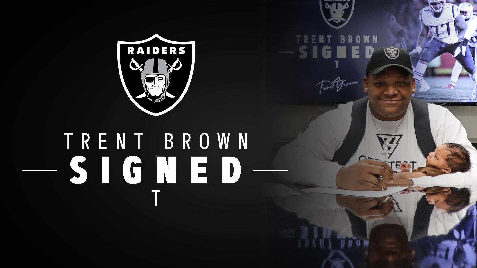Another piece in place.  We have signed T @Trent Brown: https://t.co/sNCWm1ls3y #RaiderNation https://t.co/XG1j6uPBxg
