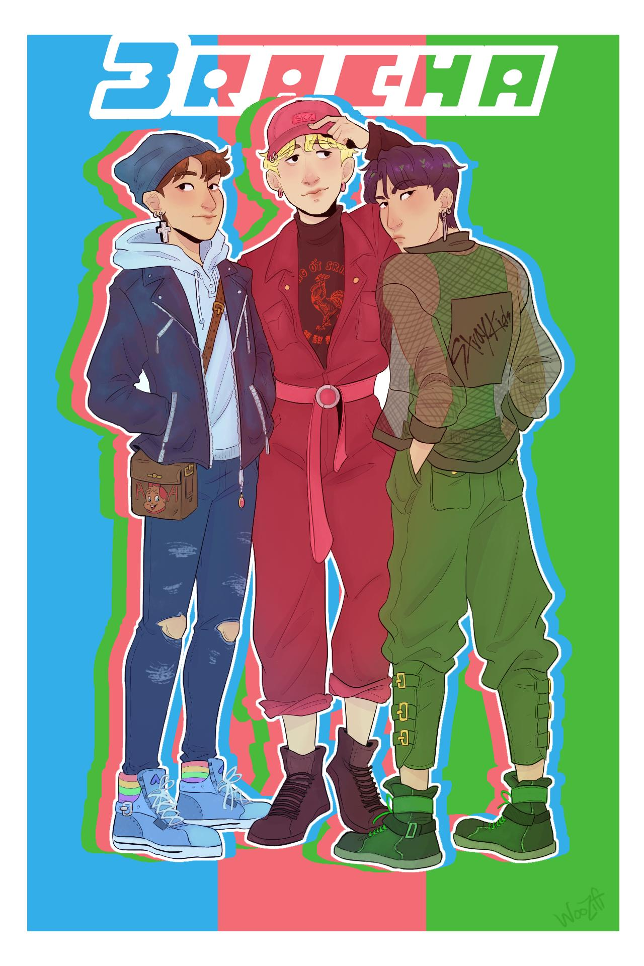 sugar, spice, & everything nice! IT'S THE #3RACHA BOYS!!!! #StrayKids #BANGCHAN #HAN #CHANGBIN https://t.co/UcErJEiDMy