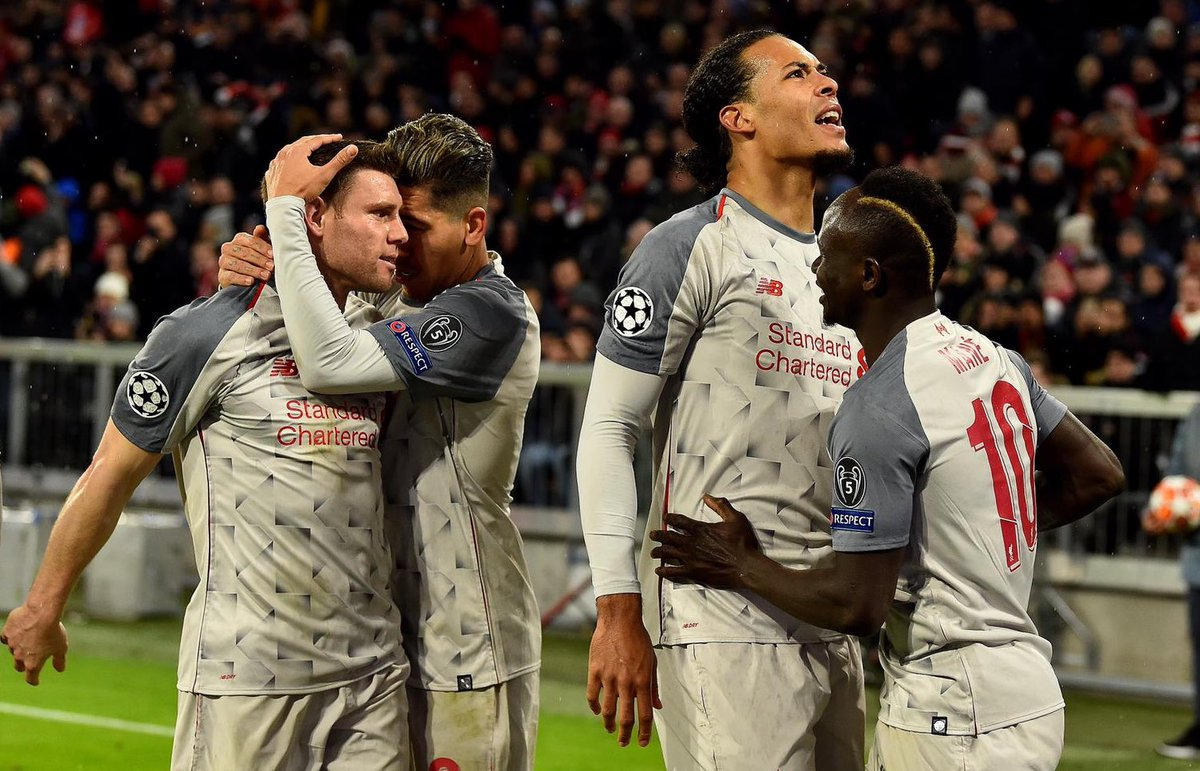 Great performance 💪🏻  Great result ⚽️  Great night 👊🏻 Thanks to the travelling fans in the heavens 👏🏻 #manesfirstwasoutrageous #quartersherewecome #YNWA