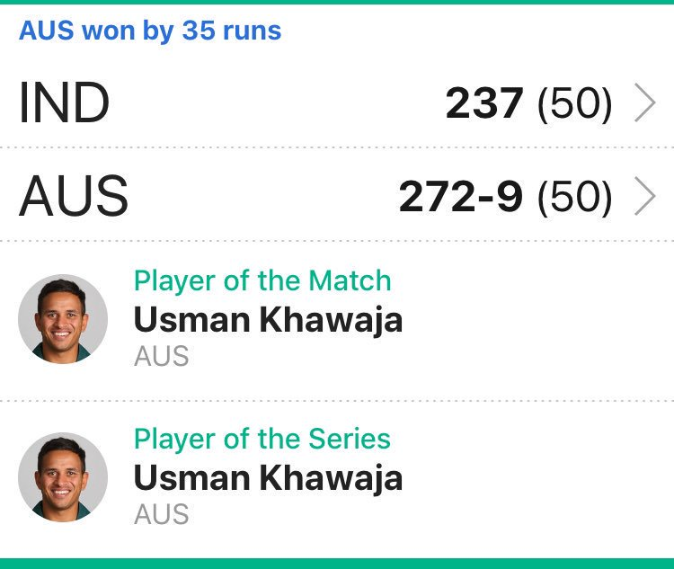 Sundass Khan's photo on #INDvAUS