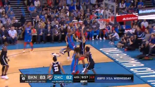Deonte Burton hangs and finishes strong in the lane! ��  #ThunderUp 90 #WeGoHard 87  6:44 remaining on @ESPNNBA https://t.co/bgP8FU0djE