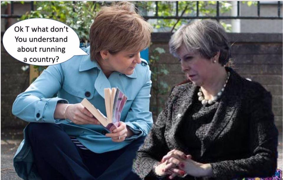 Perhaps May could look north of the border for some training. #brexitmayhem <br>http://pic.twitter.com/r6BG6bhl1B