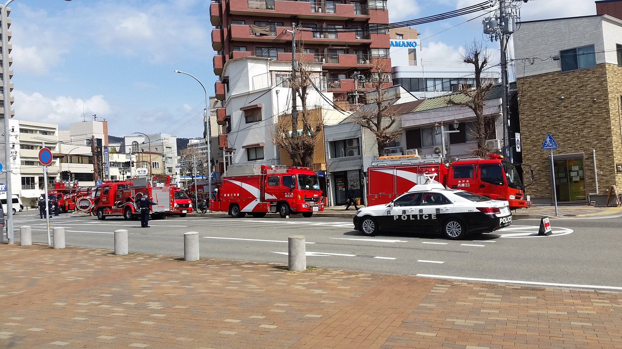 画像,大倉山で高層建物火災。#火災#火事#大倉山#神戸市 https://t.co/TjecpFlRSV。