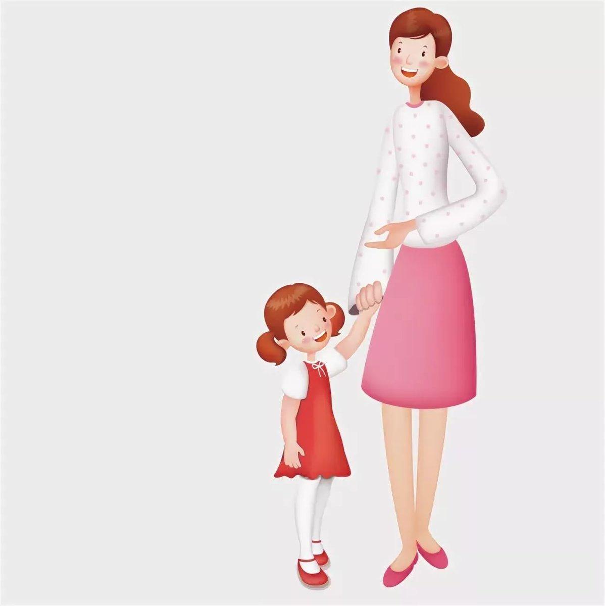 Картинки мама и ребенок нарисованы