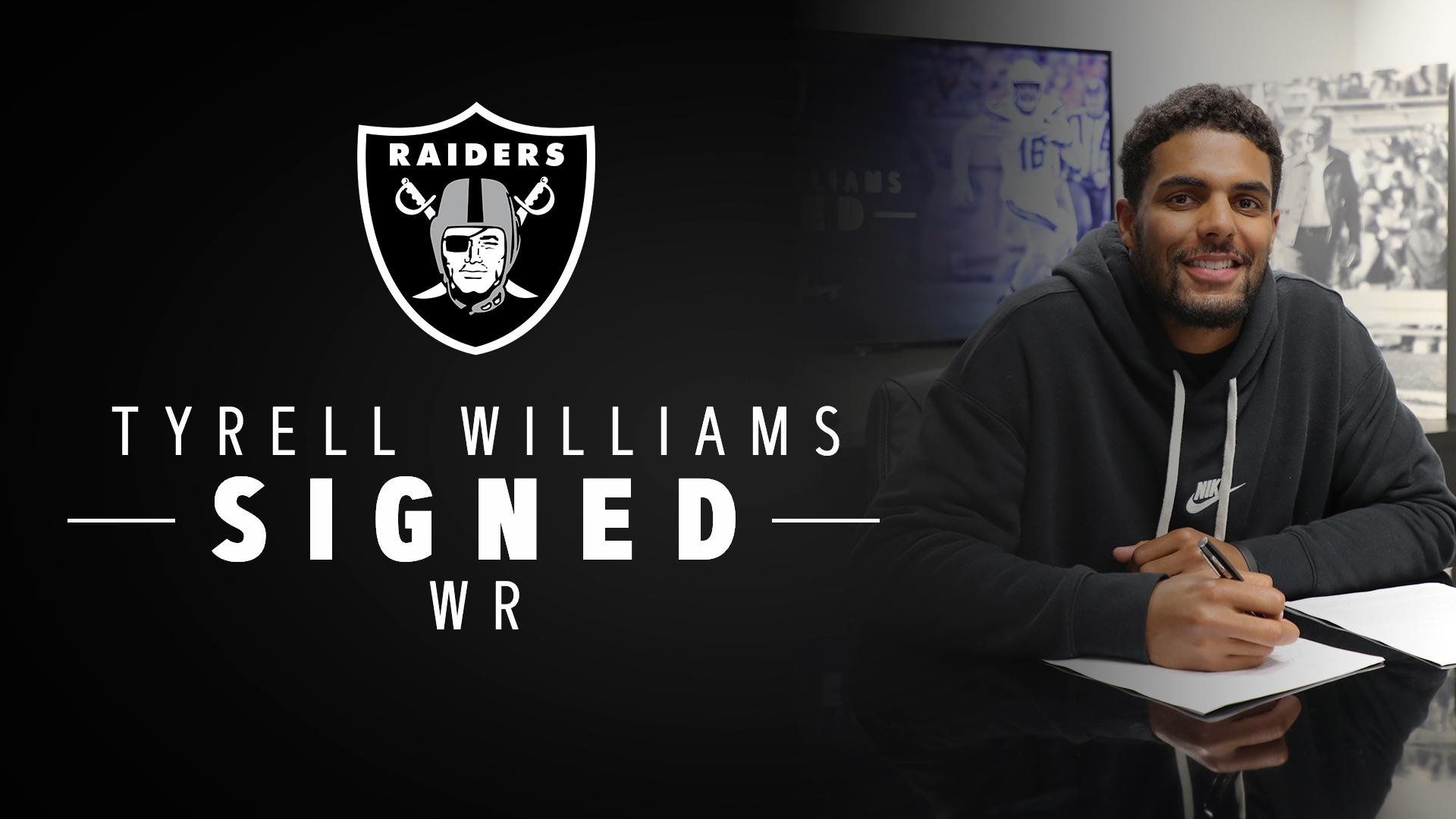 Introducing a new vertical threat.  We have signed WR @TyrellWilliams_: https://t.co/I9WBeva5oI https://t.co/QGGp416kn4